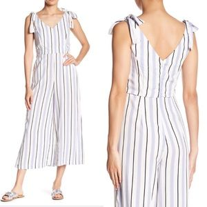 NWT Romeo & Juliet Couture Lilac Striped Jumpsuit